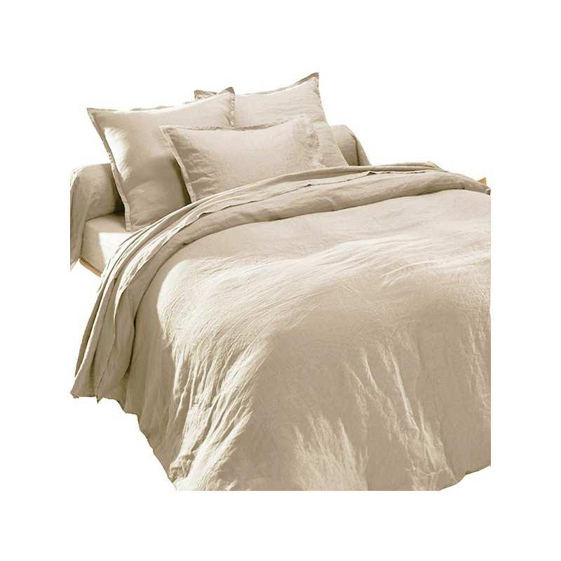 drap plat en pur lin lav luxe naturel la compagnie du blanc. Black Bedroom Furniture Sets. Home Design Ideas