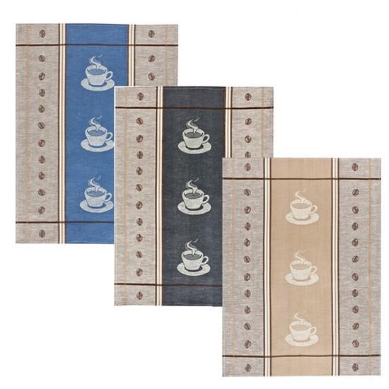 Lot de 3 Torchons METIS 50x70 Espresso