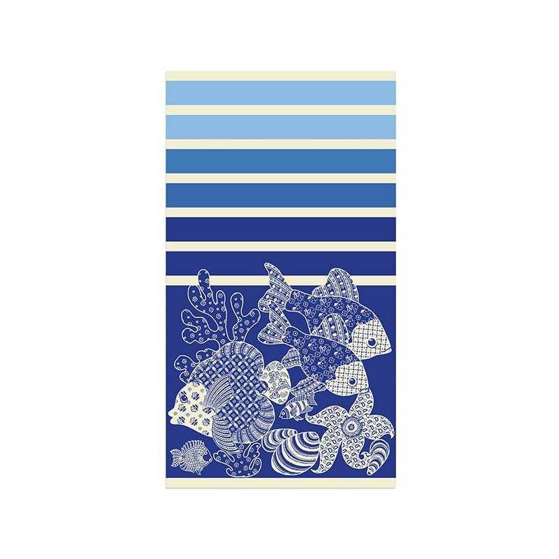 drap de plage 95x170 san cristobal la compagnie du blanc. Black Bedroom Furniture Sets. Home Design Ideas