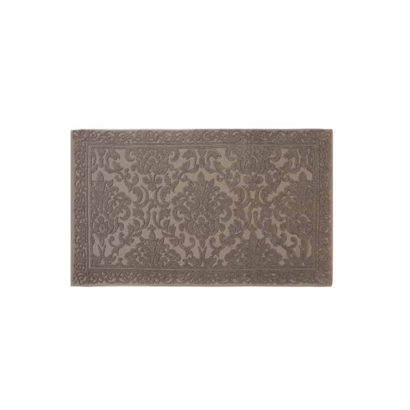 Tapis de bain cisel jacquard 60x100 cm 1200gr m2 greige la compagnie du blanc Tapis de bain de luxe