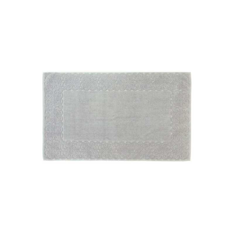 tapis de bain spirale jacquard 60x100 cm 1200gr m2 gris perle la compagnie du blanc. Black Bedroom Furniture Sets. Home Design Ideas