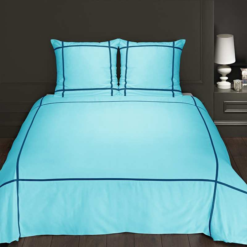 housse de couette 220x240 turquoise marine. Black Bedroom Furniture Sets. Home Design Ideas