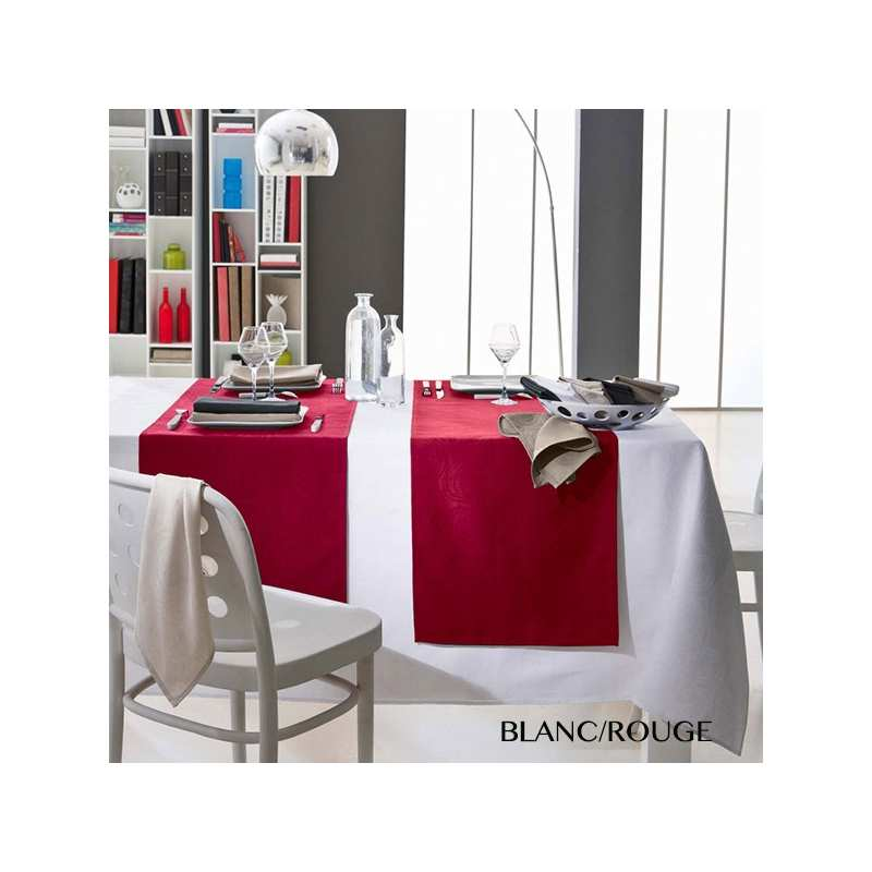 nappes de table spirale tradilinge la compagnie du blanc. Black Bedroom Furniture Sets. Home Design Ideas