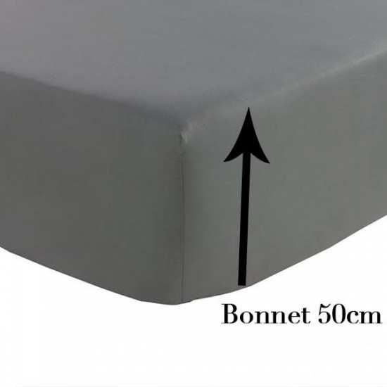 Percale Draps Housse Grand Bonnet 50 cm