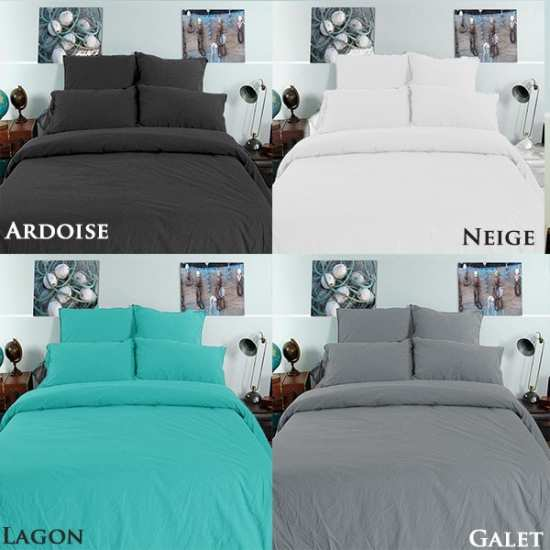 linge de lit palace coton lav la compagnie du blanc. Black Bedroom Furniture Sets. Home Design Ideas