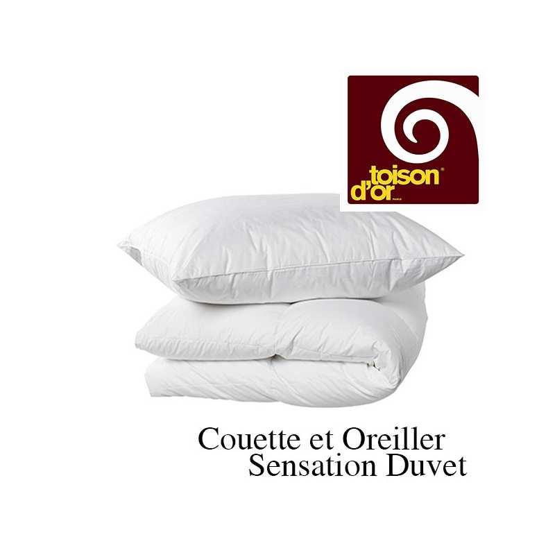 Couette sensation duvet couette toison d 39 or la compagnie du blanc - Couette duvet 220x240 ...