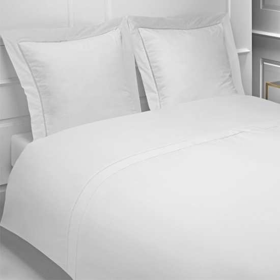 percale 160 fils linge de lit la compagnie du blanc. Black Bedroom Furniture Sets. Home Design Ideas