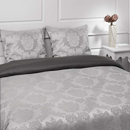 linge de lit satin jacquard la compagnie du blanc. Black Bedroom Furniture Sets. Home Design Ideas