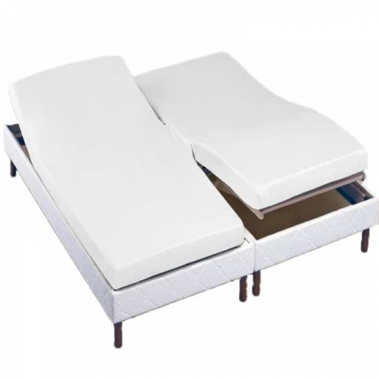 drap housse t te et pied relevable la compagnie du blanc. Black Bedroom Furniture Sets. Home Design Ideas