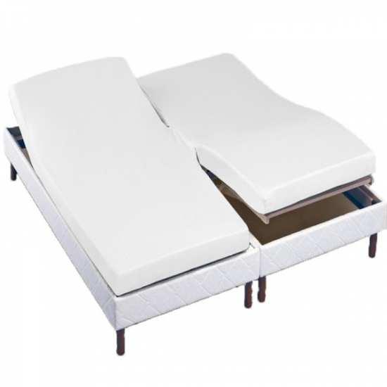 drap housse tete pied relevable la compagnie du blanc. Black Bedroom Furniture Sets. Home Design Ideas