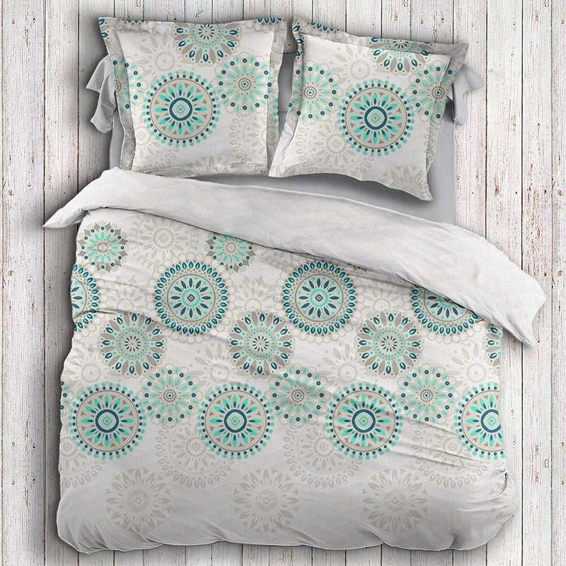 housse de couette motifs indiens la compagnie du blanc. Black Bedroom Furniture Sets. Home Design Ideas
