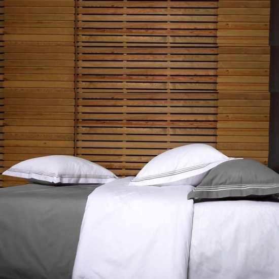 Linge de Lit Bicolore Percale Monte Carlo 100% Coton Peigné 80 fils/cm2