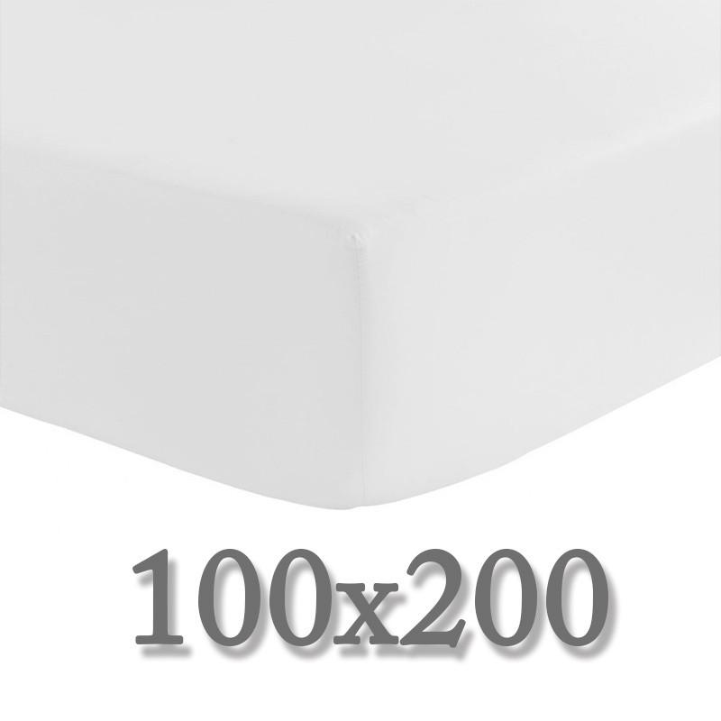 drap housse 100x200 la compagnie du blanc. Black Bedroom Furniture Sets. Home Design Ideas