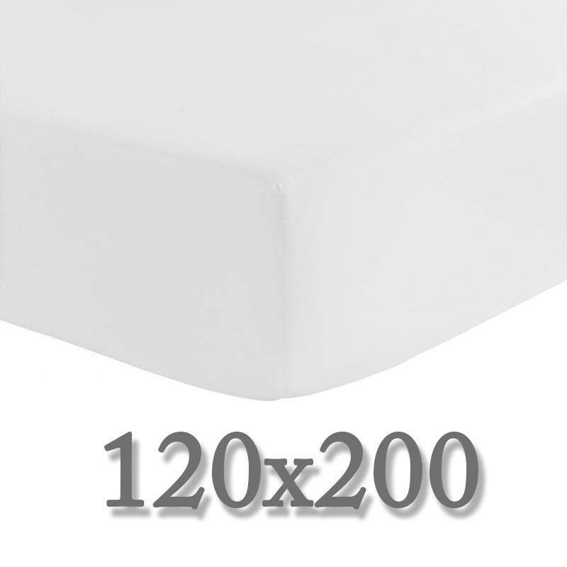 drap housse 120x200 bonnet 30 cm la compagnie du blanc. Black Bedroom Furniture Sets. Home Design Ideas