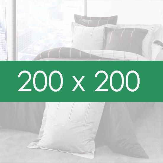 housse de couette 200x200 la compagnie du blanc. Black Bedroom Furniture Sets. Home Design Ideas