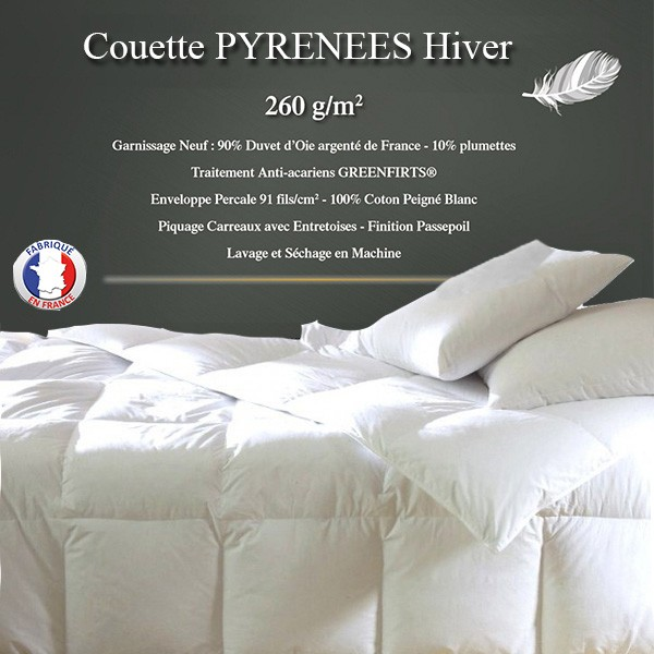 couette duvet pyrenex couette duvet pas cher la compagnie du blanc. Black Bedroom Furniture Sets. Home Design Ideas