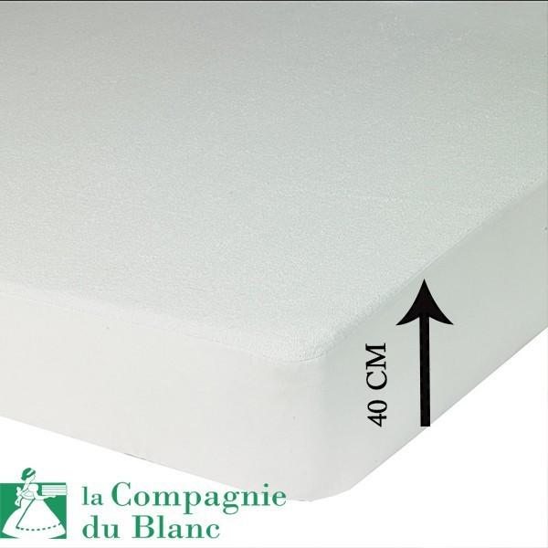 protege matelas bonnet 40 cm polyurethane. Black Bedroom Furniture Sets. Home Design Ideas